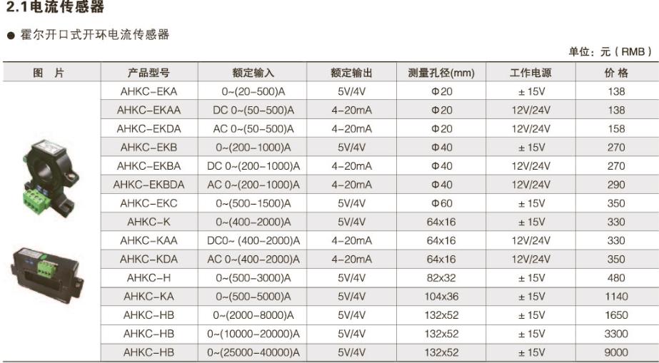 开口式霍尔电流传感器价格